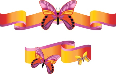 spring roll: Bright butterflies on the shining ribbons