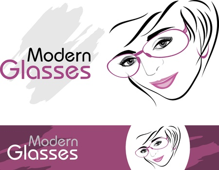 eyewear fashion: Stylish modern glasses. Icons for design Illustration
