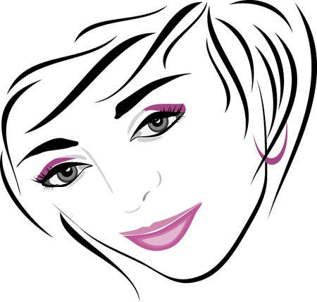 Female hairdo. Icon for design Vector