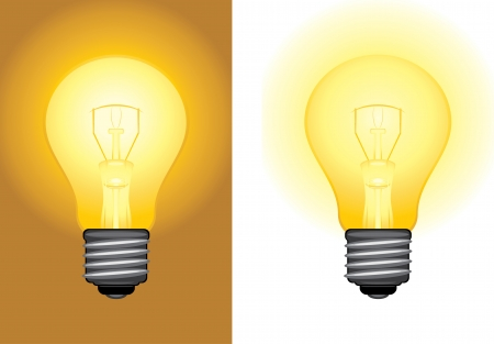 Glowing light bulbs Vector