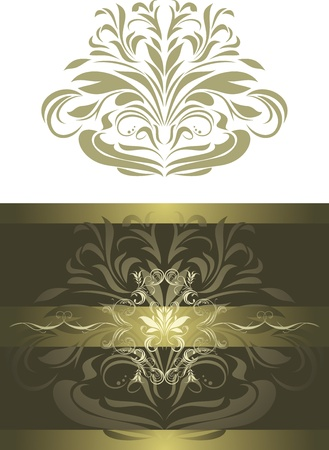 Ornamental shining element for design Stock Vector - 20237346