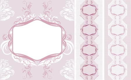 Ornamental lacy borders for design Vector