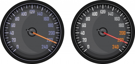 Speedometer isolated on the white Vector