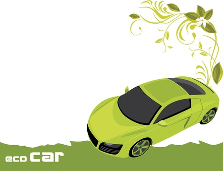 Eco car  Banner for design Vector
