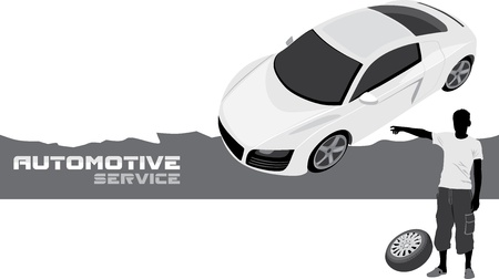 Automotive service  Banner for design Vector