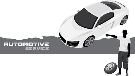 hatchback: Automotive service  Banner for design