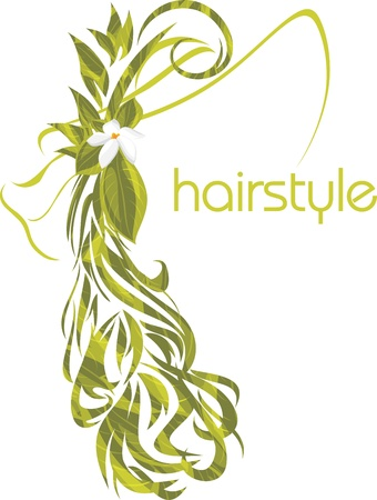 Elegant female hairstyle  Icon for design Stock Vector - 20774037