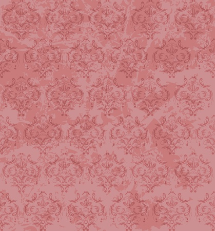scrap paper: Seamless old ornamental background Illustration