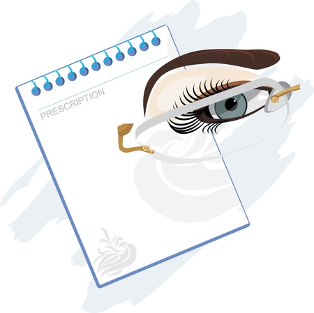 Prescription for glasses Stock Vector - 20937327