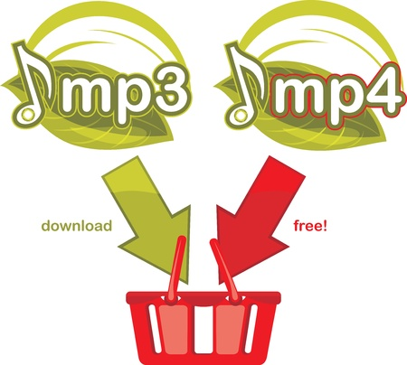 Mp3 and mp4 download free  Icon for design