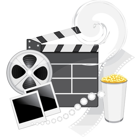 film industry: Film industry objects Illustration
