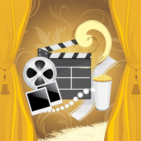 roll curtains: Film industry background