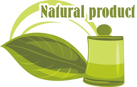 organic fluid: Natural product  Icon for design Illustration
