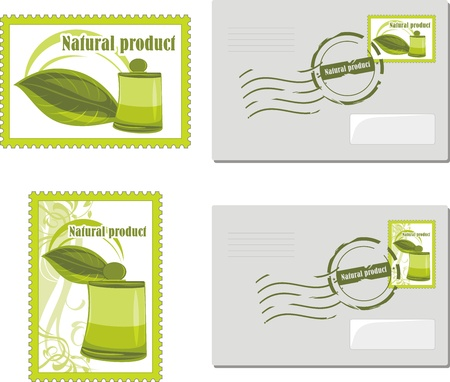 envelop: Natural product  Envelop and post stamp