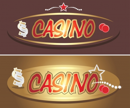 leidenschaft: Casino Icons für Design Illustration