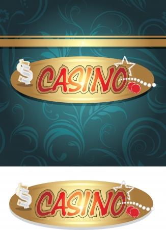 fervor: Casino icon and background for design Illustration