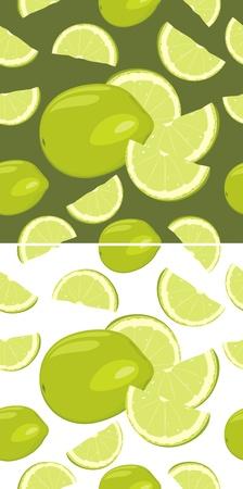 fondo verde oscuro: Rodajas de lim�n aislados en el blanco y el fondo verde oscuro