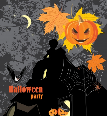 booty: Halloween party background Illustration