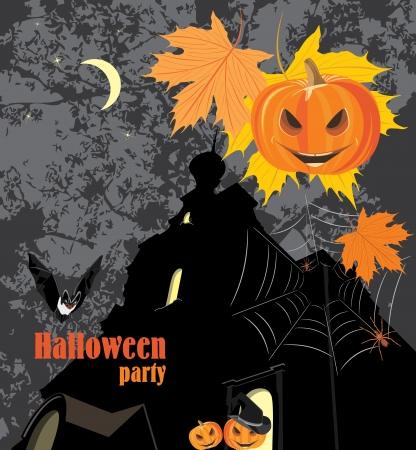 stocky: Halloween party background Illustration