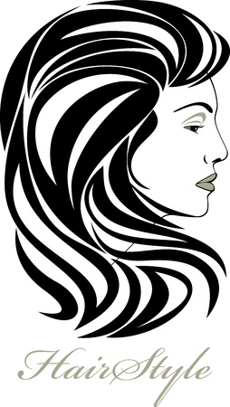 hair part: Portrait of elegant woman  Hairstyle icon