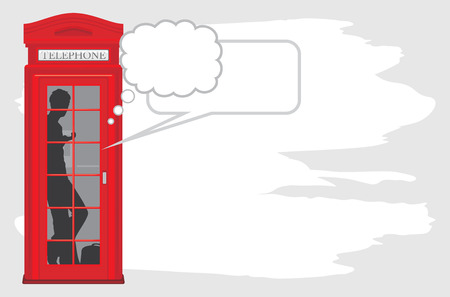 Telephone box isolated on the abstract background Vector