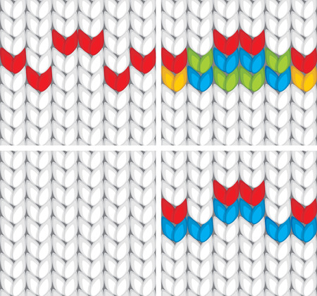 crewel: Seamless pattern knitted texture Illustration