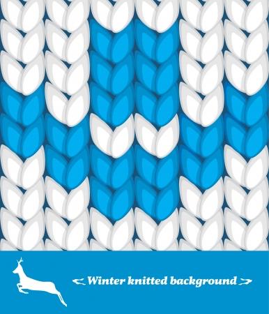 knitted background: Invierno de punto de fondo