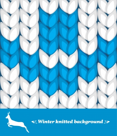 crewel: Winter knitted background