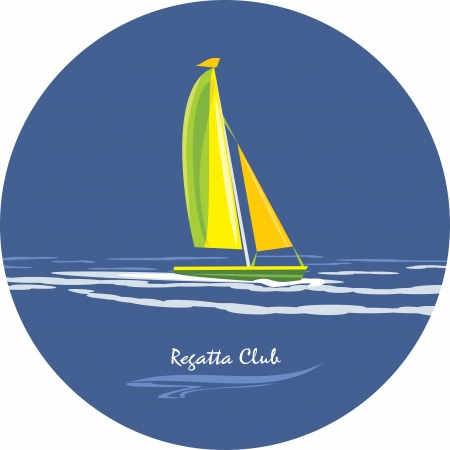 Regatta club  Icon for design Illustration