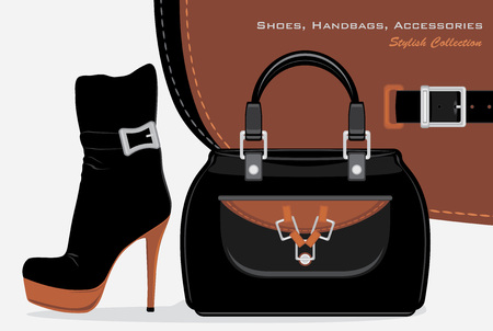 ankle strap: Shoes, handbags and accessories  Stylish collection Illustration