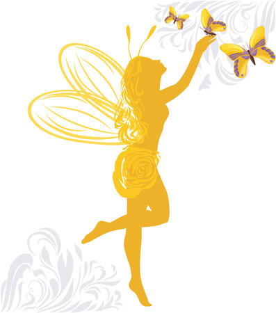 Fairy and butterflies Vector