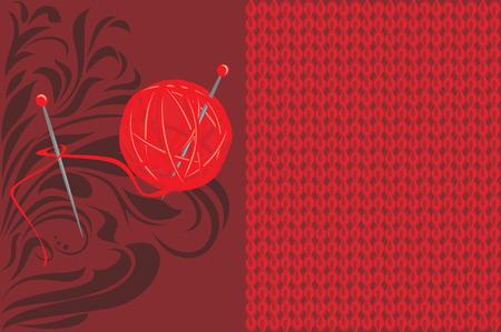 knitted background: Fondo rojo de punto
