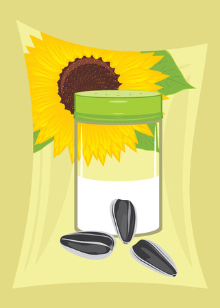 Salted sunflower seeds  Label for design packing Vector