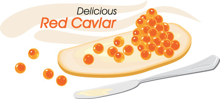 bread and butter: Delicious red caviar with butter