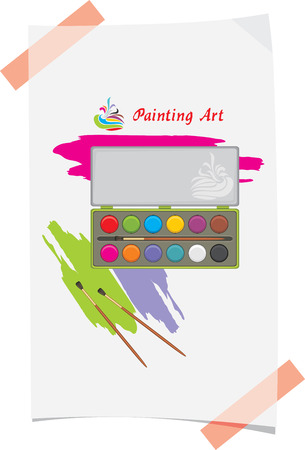 Water color and paint strokes  Painting art Vector