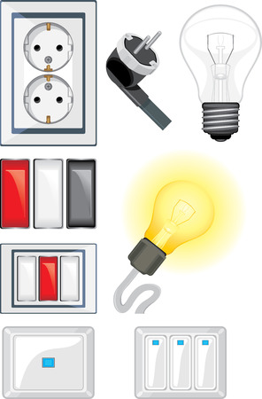 Electrical device objects Vector