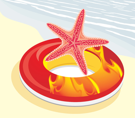 inflate: Lifebuoy with starfish