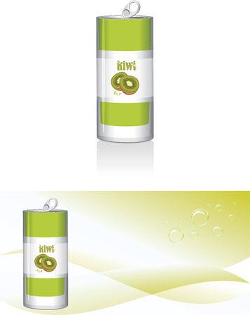 nonalcoholic: Nonalcoholic kiwi drink Illustration