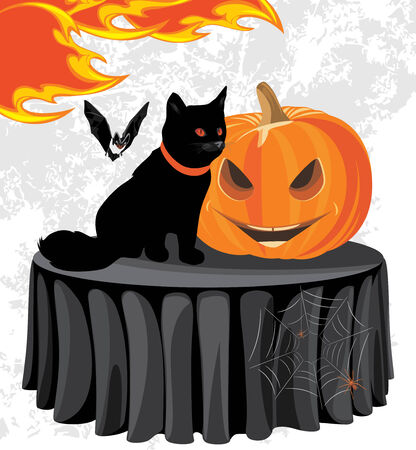 stocky: Halloween party. Holiday composition