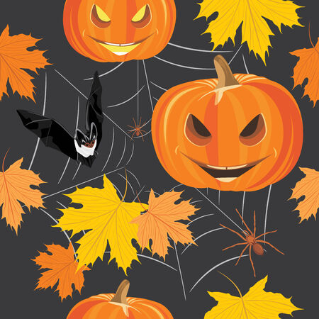 stocky: Happy Halloween. Seamless background for design Illustration