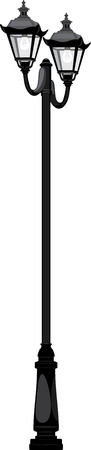 streetlamp: Street lantern isolated on the white Illustration
