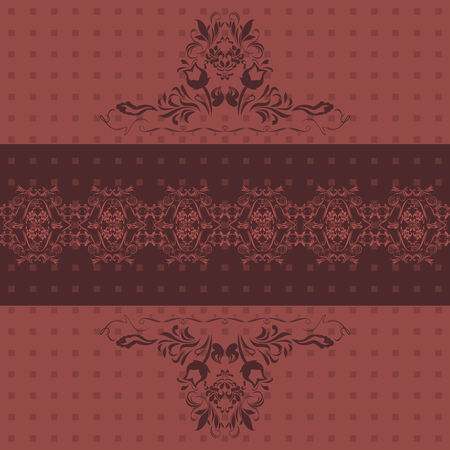 Abstract ornamental dark ruby background Vector