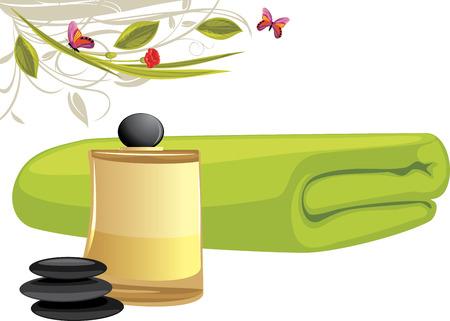 aromatique: Huile aromatique et serviette de bain
