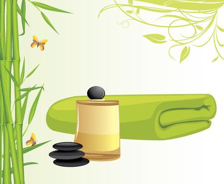 aromatique: Huile aromatique et de bambou serviette de bain