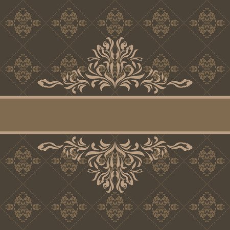 dark brown background: Abstract ornamental dark brown background for wrapping