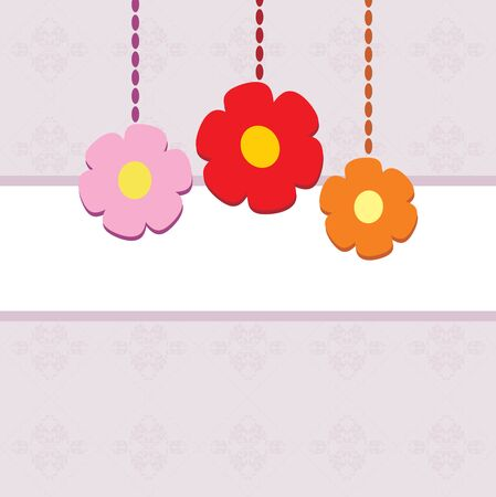 an inflorescence: Ornamental background with stylized flowers Illustration