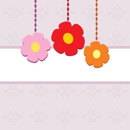 Ornamental background with stylized flowers Illustration