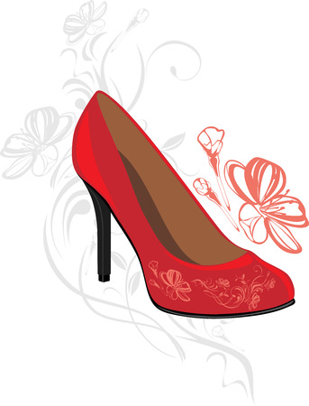 red shoes: Trendy elegant red shoes