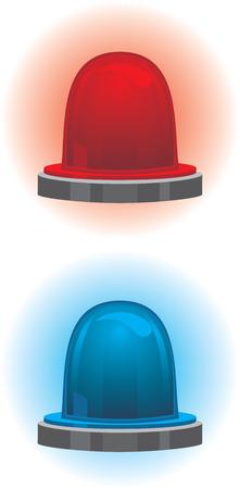 emergency light: Emergency and police light Illustration