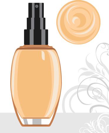 liquid: Liquid foundation cream Illustration